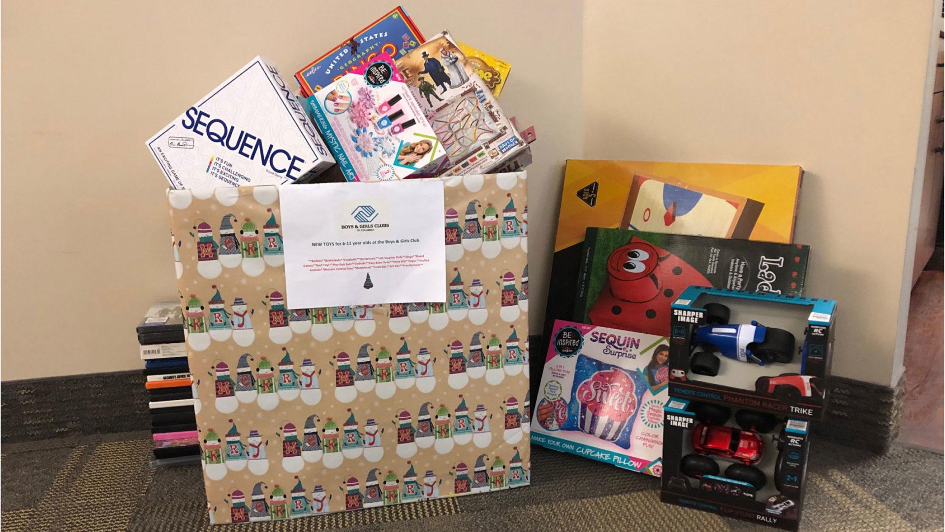 JES Holdings Donates Toys To Boys & Girls Club Of Columbia